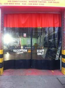 Staff only Garage Curtains