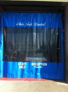 auto repair centre curtains