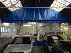Industrial Curtains - Spray Booth Curtains